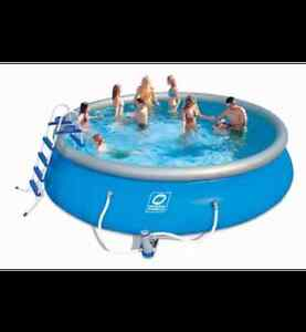 Hydro-Force Simple Set Soft-Sided Pool, 18-ft x 18-ft x 48-in