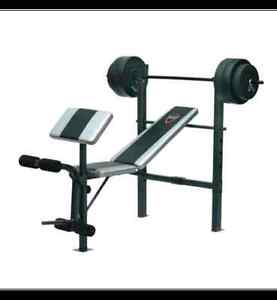 Barbell Bench with 100-lb Weight Set (New)