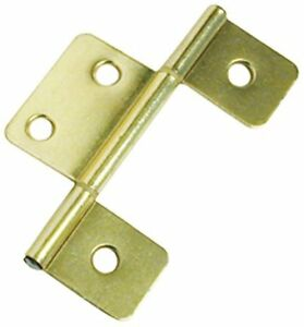 3-1/2 Inch Brass Non-Mortise Hinge