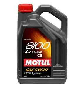 Motul 8100 X-clean 5W-30 Synthetic Motor oil-5 Liters  -$47