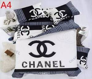 BRAND NEW CHANEL CC 4 PC QUEEN BED QUILT COVER PILOWCASES SHEET Greenwith Tea Tree Gully Area Preview