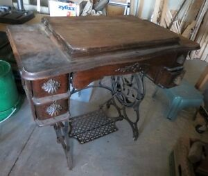 Re-purpuse a Treadle Sewing Table into a Useful Table
