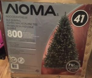 "FLASH SALE!!! - 7 1/2 ft NOMA Pre-Lit  Christmas Tree 60"" diam"