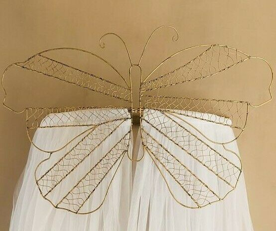 New Pottery Barn Kids Gold Butterfly Cornice WITHOUT TULLE Wall Nursery Decor