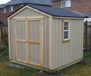 All Wood Backyard Storage Sheds - Custom Sizes & Options