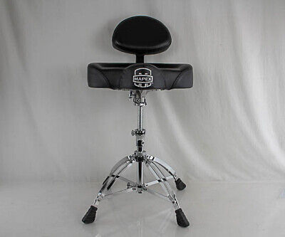 Mapex T775 Saddle Top Drum Throne with Back Rest and 4 Double Braced Legs Double Braced Saddle
