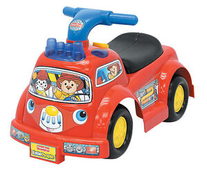 EXCELLENT CONDITN  Fisher Price Little People Ride On Fire Truck