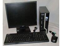 Acer mini desktop PC windows 7