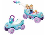 Brand New Disney Frozen Musical Winter Coach Singing Happy Hauler 2 in 1 Wagon Ride On Car