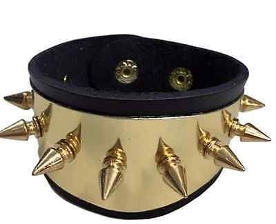 DC Comics Harley Quinn Suicide Squad Leather/Metal Spikes Cuff Bracelet