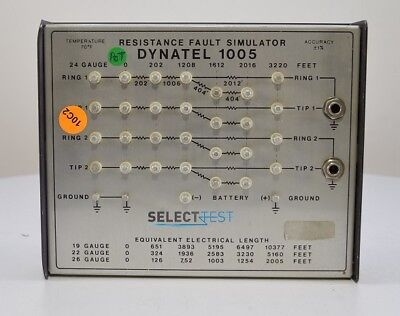 Dynatel 1005 Resistance Fault Simulator