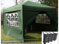 "3m Square AirWave Waterproof ""Pop up"" Gazebo with Sides, complete with bag"