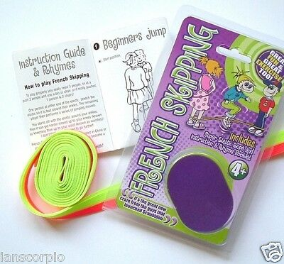 FRENCH SKIPPING ROPE SUPER ELASTIC ROPE & INSTRUCTION & RHYME BOOKLET **NEW**