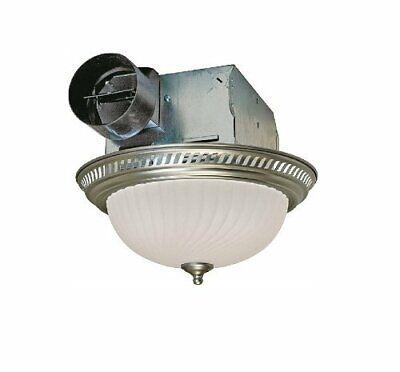 Bathroom Vent Fan With Light Air Exhaust Ventilation Bath Ceiling Fixture 70 CFM