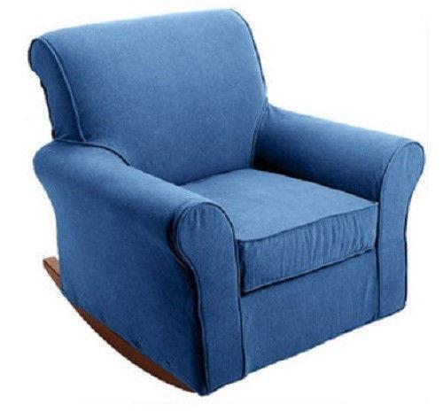 Glider Rocker Chair With Ottoman