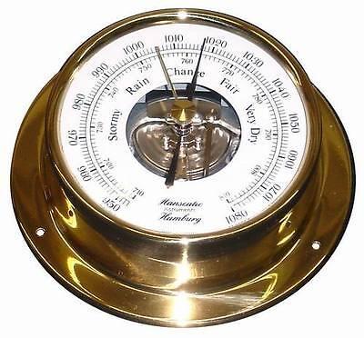 Schiffs Barometer 110 mm Messing leicht Schiffs-Instrument