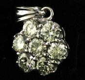 Used White Gold Diamond Pendant