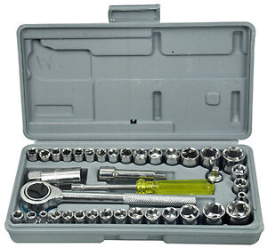 PREMIUM-40-PIECES-1-4-3-8-DRIVE-SOCKET-SET-TOOL-KIT-TORX-RATCHET-DRIVER