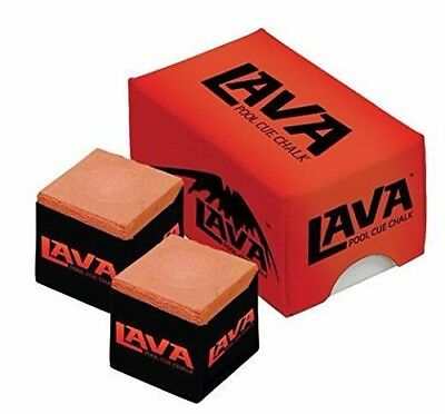 Lava Chalk  Pool Cue Tip Billiards Chalk Performance Chalk - 2 Piece Box Rust