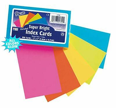 Pacon Pac1720 Index Cards 3 X 5 Unruled 5 Bright Colors Pack Of 100