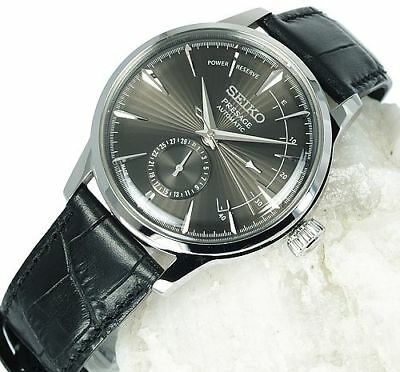 NEW SEIKO PRESAGE Cocktail Time Auto Power Reserve SSA345J1 GREY DIAL 40.5mm