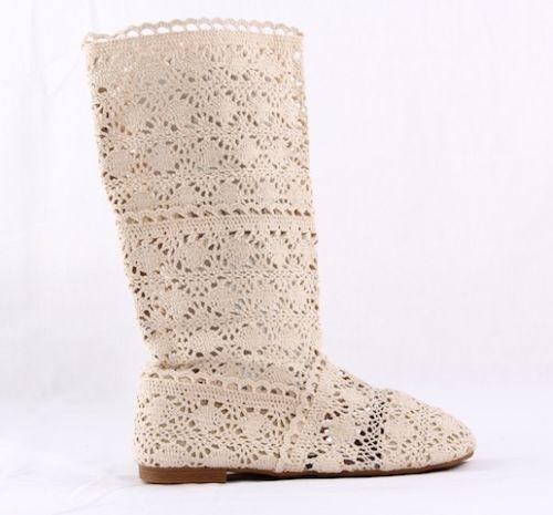 e102f54fc Knitted Summer Boots | eBay