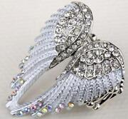 Crystal Angel Wing Ring