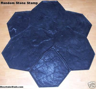 Random Stonerock Decorative Concrete Cement Imprint Texture Stamp Mat Floppy