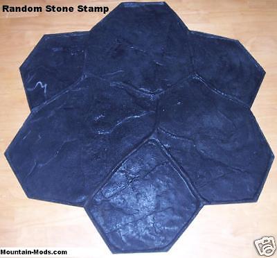 10 Random Stone Decorative Concrete Cement Texture Imprint Stamps Mats Set New