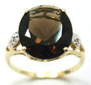Smokey Topaz Gold Ring
