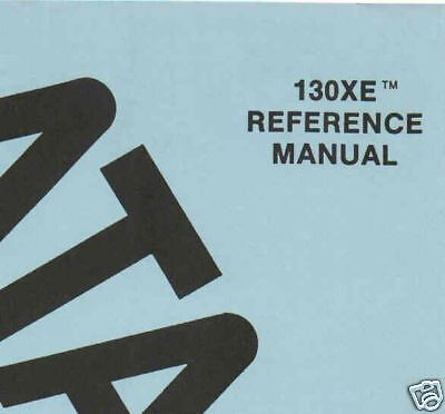 130XE Field Service Manual Orig Atari XE New