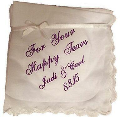 Happy Tears Wedding Handkerchief with an added name and date by Wedding - Happy Tears