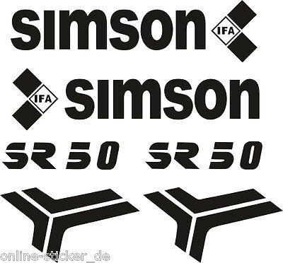 Aufklebersatz Schriftzug SIMSON SR50 Roller DDR Tankaufkleber Aufkleber AN1634