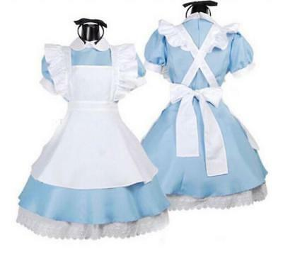 Mädchen Lolita Alice im Wunderland Anime Cosplay Kleid Party Sweet Maid Costume ()