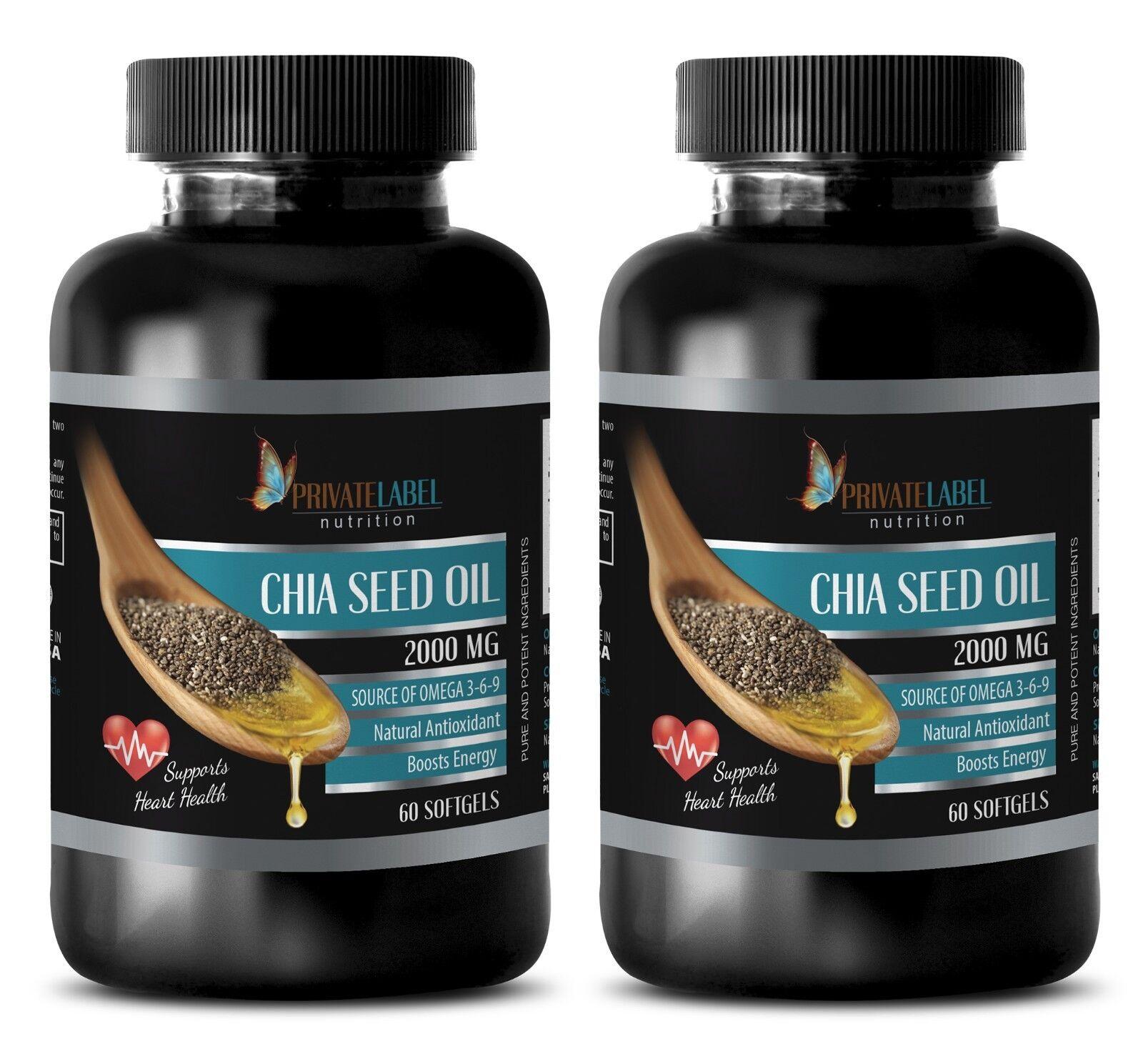 Weight Loss Laxative - Chia Seed Oil 2000mg 2b - Chia See...