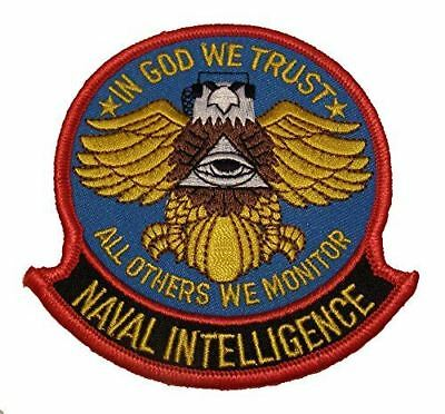 USN NAVY NAVAL INTELLIGENCE IN GOD WE TRUST ALL OTHERS WE MONITOR PATCH