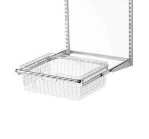 NEW Rubbermaid 3J05 Configurations Sliding Wire Basket, Titanium(FG3J0501TITNM)