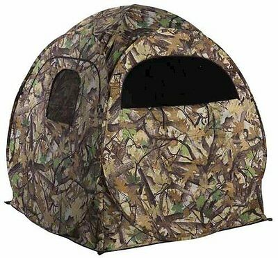 Portable Camo Pop Up Ground Hunting Blind With Backpack 60 X60 X65   Deer Turkey