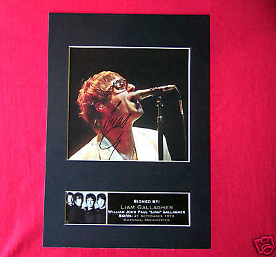 LIAM GALLAGHER Oasis Signed Autograph Mounted Photo Repro A4 Print 74