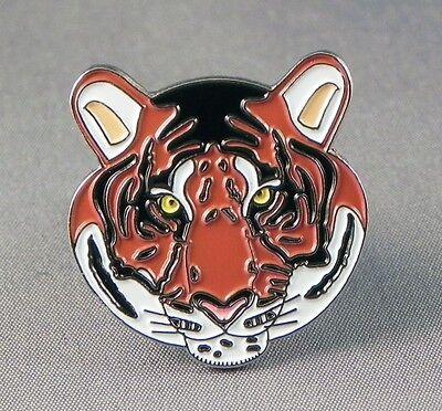 Tiger head Collectable pin badge. Big cat lapel badge