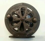 Vintage Brass Fishing Reel