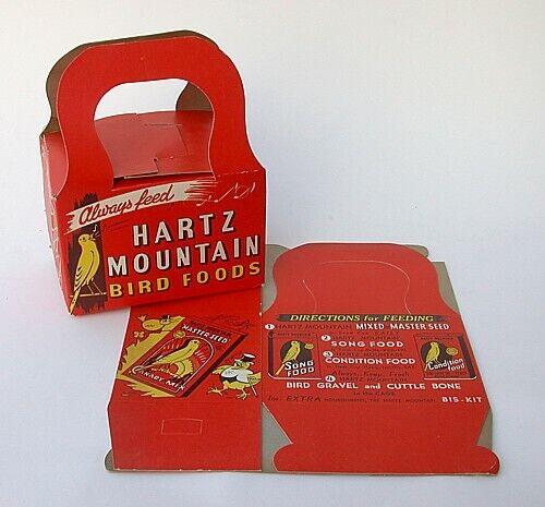 2 Vintage Original HARTZ MOUNTAIN PARAKEET CANARY BIRD Carry Boxes NOS Unused