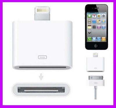 NEW Lightning 8P to 30P Connector Adaptor for iPhone5/6 iPod5 iPad Mini Nano 7