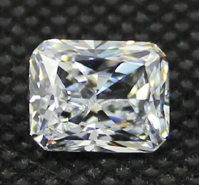 Radiant Brilliant 9 x 7 mm 3.8 ct VVS D White Lab Diamond Perfect Solitaire Gem
