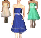 Polyester Strapless Dresses Ball Gowns