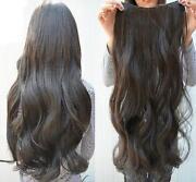 Dark Brown Clip on Hair Extensions