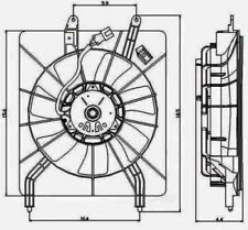 Engine Cooling Fan Assembly Global 2811432 fits 2004 Acura