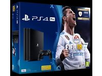 BRAND NEW FACTORY SEALED PS4 Pro (1TB) + FIFA 18 + 1 year warranty