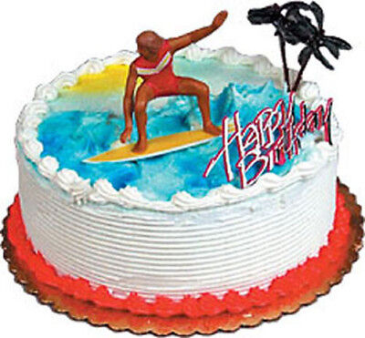 Surfing Cake Decorating Kit Decoration Topper Birthday Party Supplies Surfer Bea - Surfer Supplies