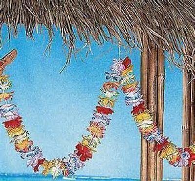 2 JUMBO LEI GARLAND 18 FEET Total Silk Hawaiian Luau #AA28 Free Shipping](Luau Garland)